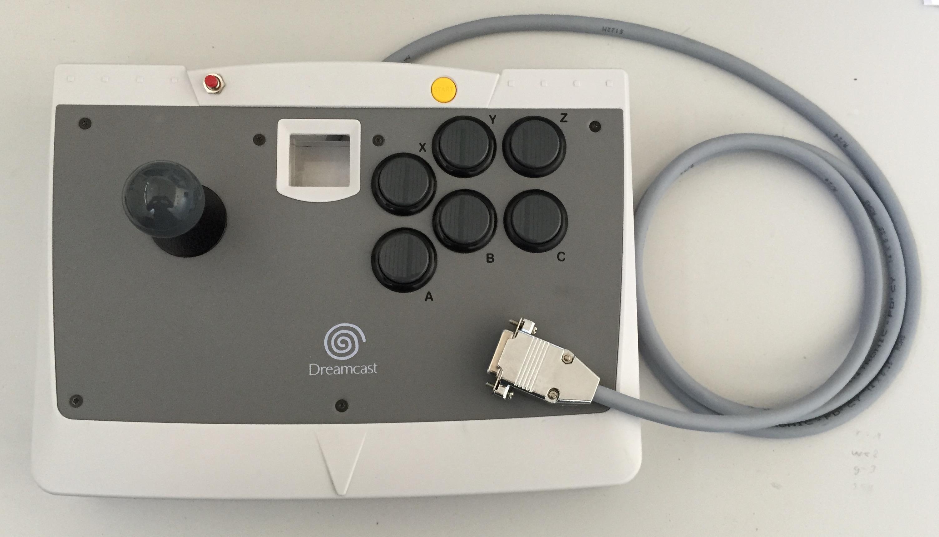 Sega Dreamcast Stick Modded for Supergun